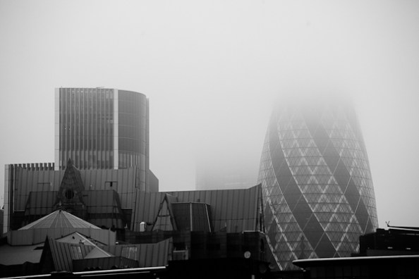 Vue sur 30 St Mary Axe (ou the Gherkin)