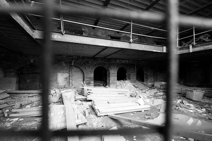Construction in the old warehouse