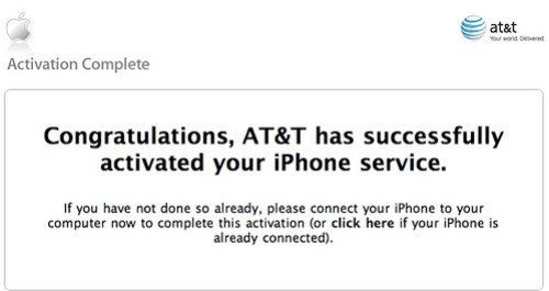 iPhone Activated!