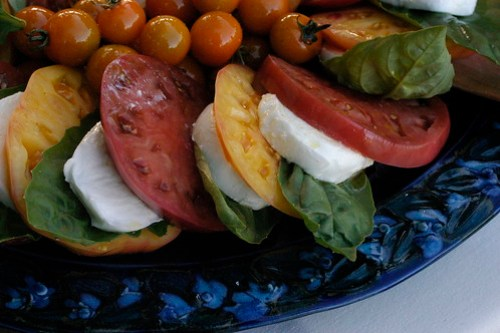 caprese salad at molly's wedding