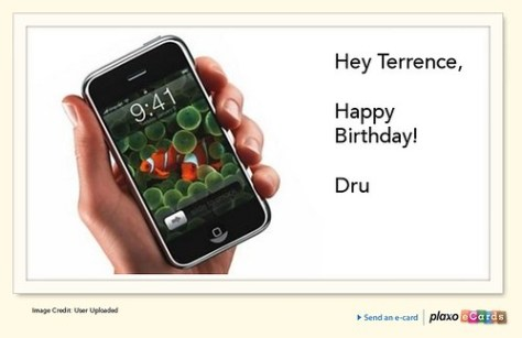 Plaxo Birthday eCard from Dru