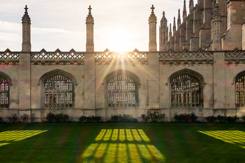Sun rays at Kings College