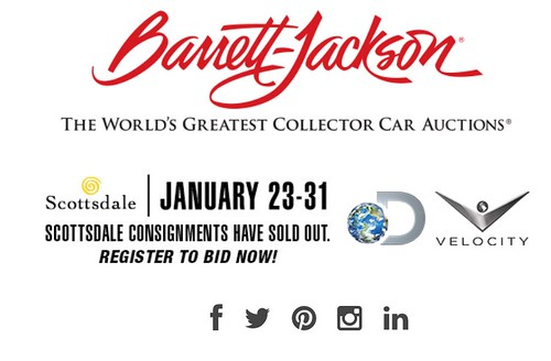 "SCOTTSDALE AZ USA - ""Barrett Jackson Auction Scottsdale"" January 23 to 31 - Saturday to Sunday Week - ""VELOCITY and DISCOVERY CHANNEL to air 36 hours of live coverage OF THE BARRETT-JACKSON SCOTTSDALE AUCTION IN JANUARY 2015"" - www.barrett-jackson.com • <a style=""font-size:0.8em;"" href=""http://www.flickr.com/photos/134158884@N03/24158040719/"" target=""_blank"">View on Flickr</a>"