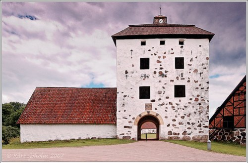 Defence tower at the castle of Hovdala