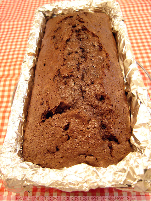 Bolo Quádruplo de Chocolate aka Quadruple Chocolate Loaf Cake