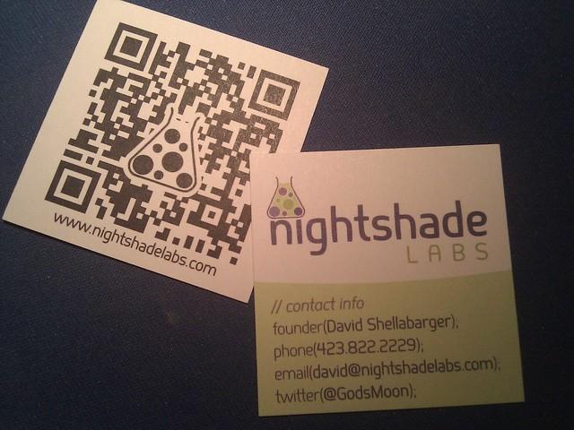 Nightshade Labs card by David Shellabarger via YouTheDesigner