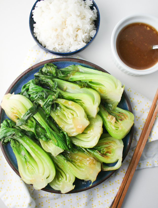 Easy Miso Bok Choy Recipe on www.inthiskitchen.com