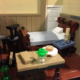 Mary Kelly's lodging room, interior... in Lego