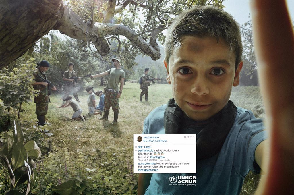 ACNUR : UNHCR Refugee Children - Pedro selfie
