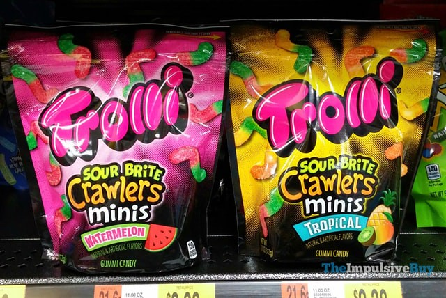 Trolli Sour Brite Crawlers Minis Watermelon and Tropical