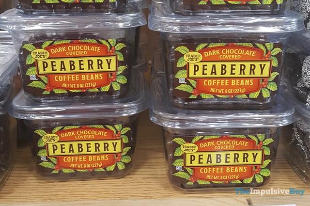 Trader Joe's Dark Chocolate Covered Peaberry Coffee Beans