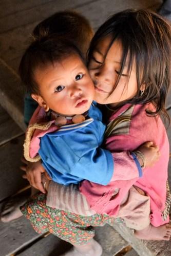 Sibling love. Wan Seng village