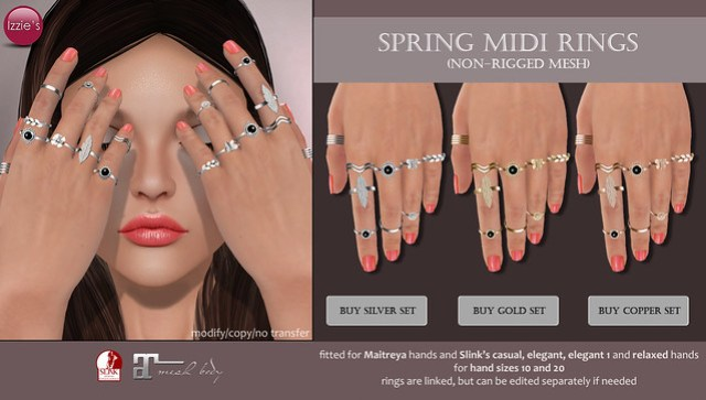 Spring Midi Rings (soon @ Uber)