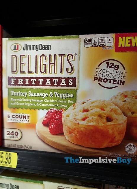 Jimmy Dean Delight Turkey Sausage & Veggies Frittatas