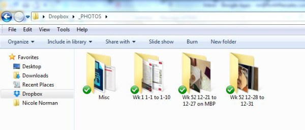 How I upload/organize photos and journaling for Project Life.
