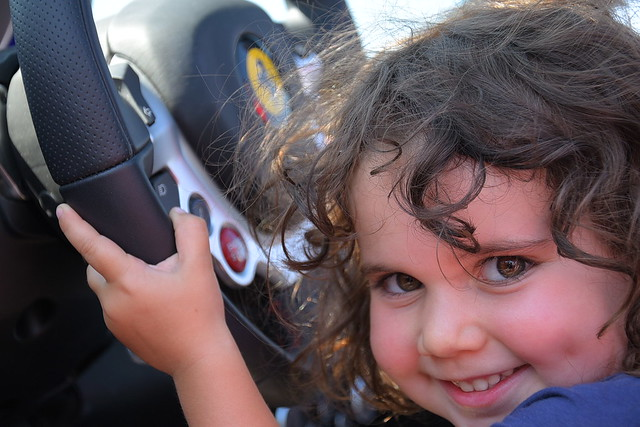 My daughter at her Ferrari experience in Florence!