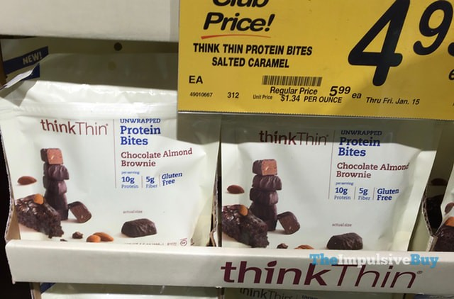 thinkThin Chocolate Almond Brownie Protein Bites