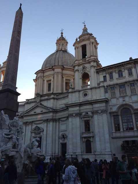 The church of St Agnese in Agone: if you visit Rome with children try to visi Piazza Navona early in the morning or in the late afternoon