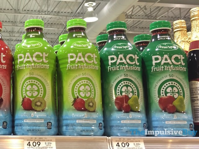 Ocean Spray Pact Fruit Infusions (Strawberry Kiwi and Cranberry Apple Pear)