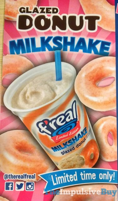 F'real Limited Edition Glazed Donut Milkshake