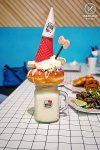 Our Freakshake creation: Hello Kitty Diner, Chatswood. Sydney Food Blog Review