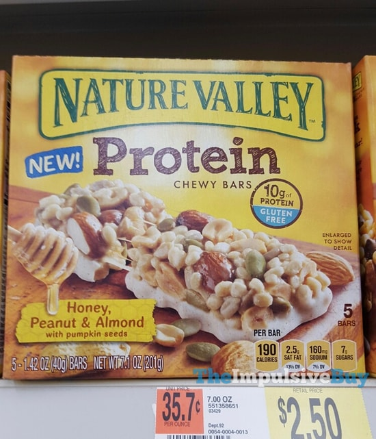Nature Valley Honey, Peanut & Almond Protein Chewy Bars
