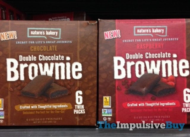 Nature's Bakery Chocolate Double Chocolate Brownie and Raspberry Double Chocolate Brownie