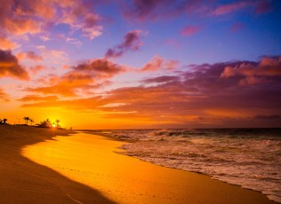 Sunrise at Sandy Beach Park Oahu Hawaii