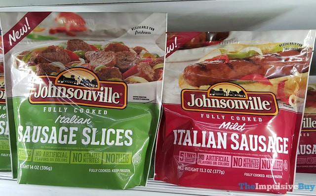 Johnsonville Italian Sausage Slices and Mild Italian Sausage
