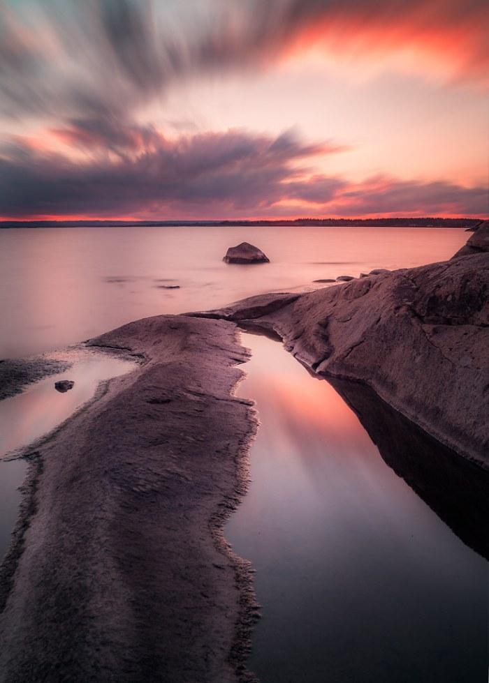 Sunset at Sternö Sandvik