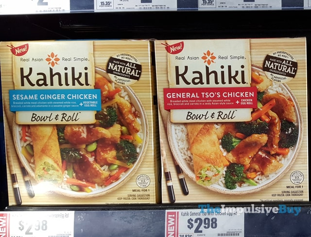 Kahiki Sesame Ginger Chicken and General Tso's Chicken Bowl & Roll