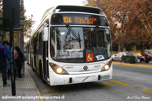 Transantiago - Inversiones Alsacia - Marcopolo Gran Viale / Volvo (BJFD35)