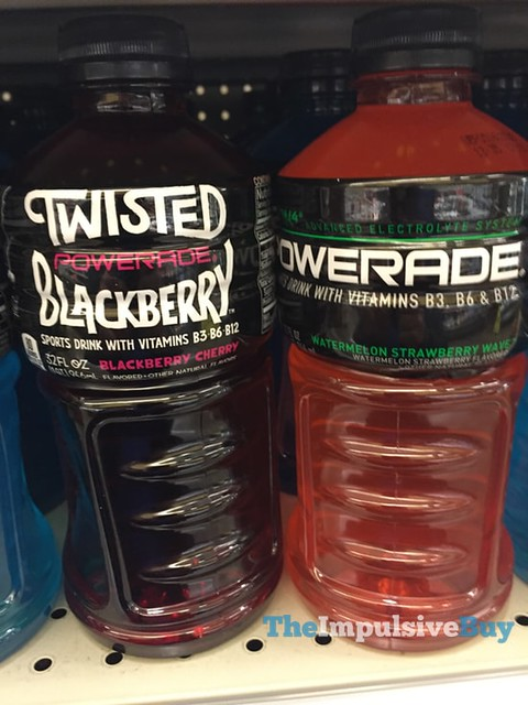 Twisted Blackberry and Watermelon Strawberry Wave Powerade