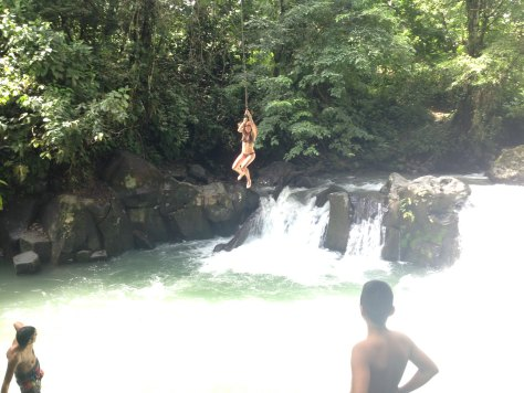 Rope swing Rio Fortuna