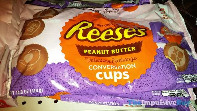 Reese's Peanut Butter Valentine Exchange Conversation Cups