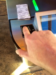 Photos of Disney's Magic Kingdom's fingerprint scanner