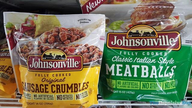 Johnsonville Original Sausage Crumbles and Classic Italian Style Meatballs