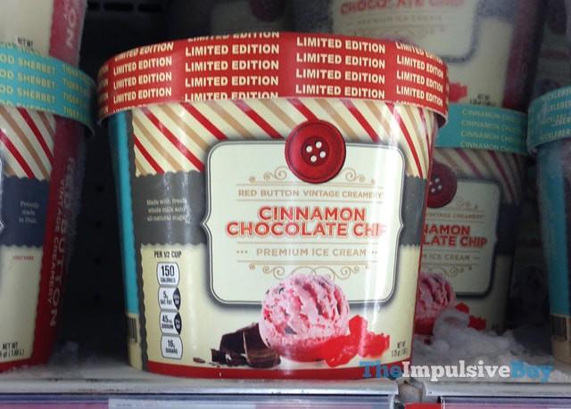 Red Button Vintage Creamery Limited Edition Cinnamon Chocolate Chip Premium Ice Cream