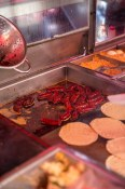 Chorizo at Tacos Memo. A common scene on the streets of Mexico.