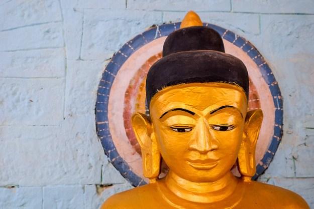 Buddha on blue. Mrauk U