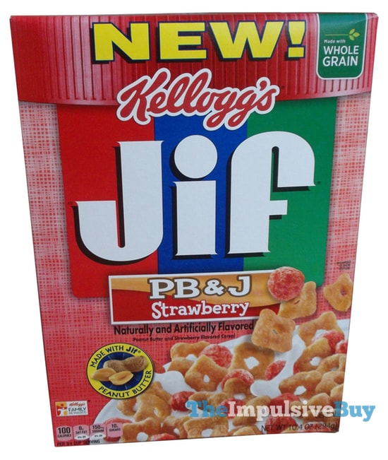 Kellogg's Jif PB&J Strawberry Cereal