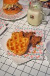 Southern fried chicken, $10: Hello Kitty Diner, Chatswood. Sydney Food Blog Review