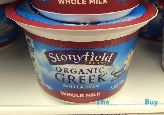 Stonyfield Organic Vanilla Bean Whole Milk Greek Yogurt