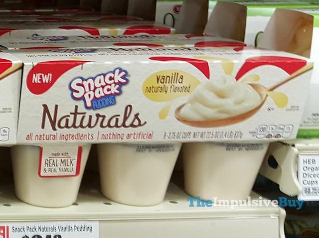 Snack Pack Vanilla Naturals Pudding