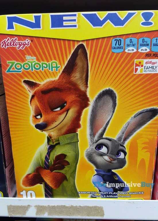 Kellogg's Disney Zootopia Fruit Snacks