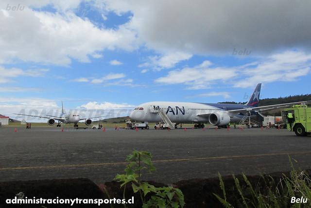 LAN Airlines - Isla de Pascua (IPC) - Boeing 787 Dreamliner CC-BGE y CC-BBG