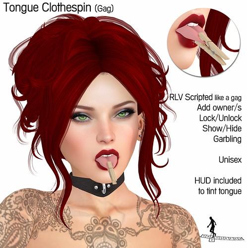 Tongue Clothespin