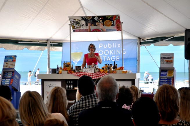 Emily Ellyn at the Clearwater Beach Uncorked, Food, Wine & Beer Festival. Clearwater Beach, Florida, Feb. 7, 2015