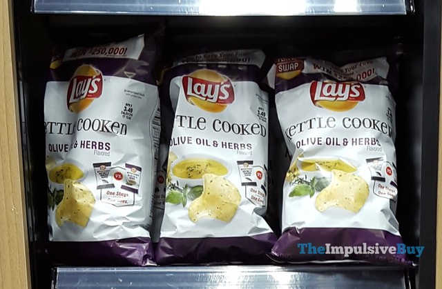 Lay's Kettle Cooked Olive Oil & Herbs Potato Chips