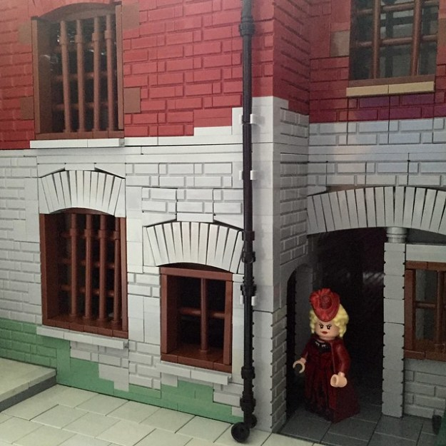 Mary Kelly at Miller's Court, in Lego